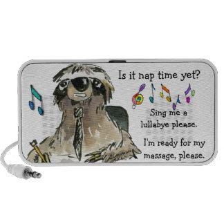 Cartoon Sloth Nap Time Speakers