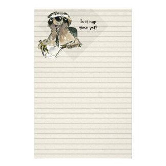 Cartoon Sloth Nap Time Stationery