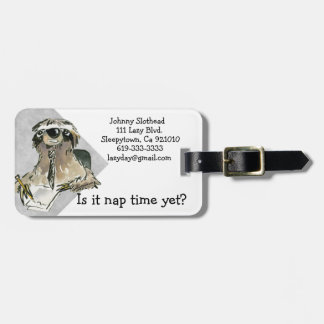 Cartoon Sloth Nap Time Tag For Bags