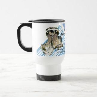 Cartoon Sloth Nap Time Travel Mug