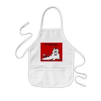 Cartoon Slug Chefs Apron for kids