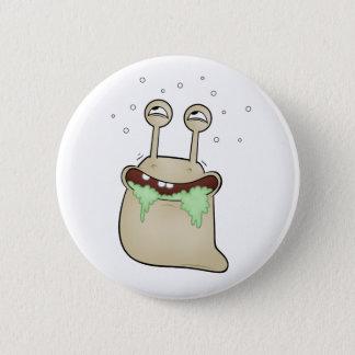 cartoon slug pinback button