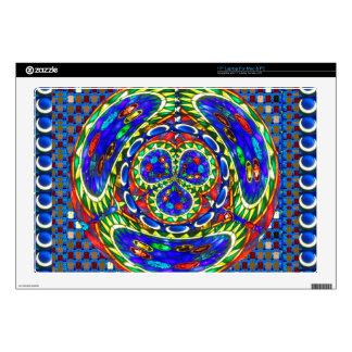 Cartoon smiley face Cosmic Spiritual Soul Art gift Laptop Decal