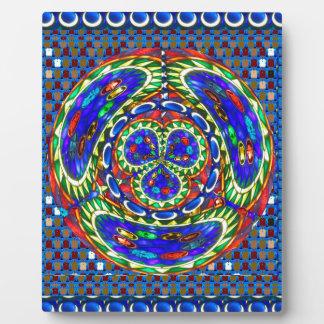 Cartoon smiley face Cosmic Spiritual Soul Art gift Plaque