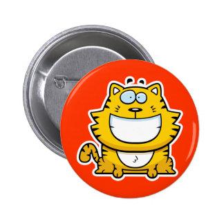 Cartoon Smiling Cat 2 Inch Round Button