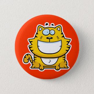 Cartoon Smiling Cat Button