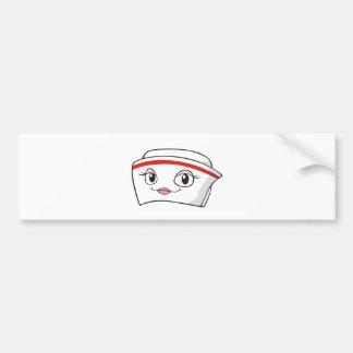 Cartoon Smiling Nurse Hats Bumper Stickers