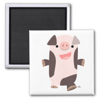 Cartoon Smiling Pig magnet