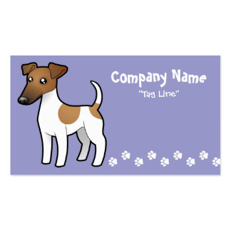 Cartoon Smooth Fox Terrier Business Card