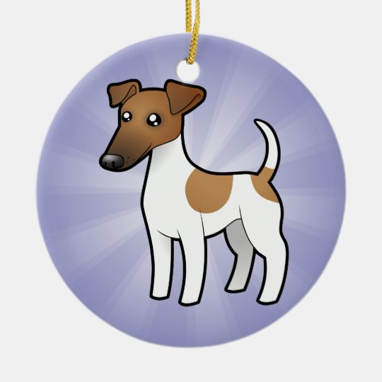 Cartoon Smooth Fox Terrier Ceramic Ornament