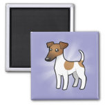 Cartoon Smooth Fox Terrier Magnets