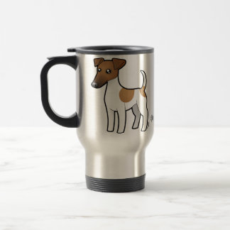 Cartoon Smooth Fox Terrier 15 Oz Stainless Steel Travel Mug
