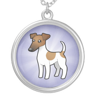 Cartoon Smooth Fox Terrier Silver Plated Necklace