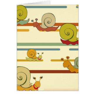 Cartoon Snail Race Card