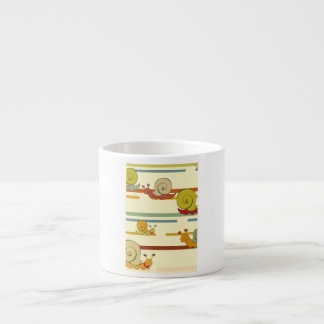 Cartoon Snail Race Espresso Cup