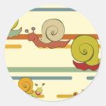 Cartoon Snail Race Sticker