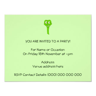 Cartoon Snake 4.25x5.5 Paper Invitation Card