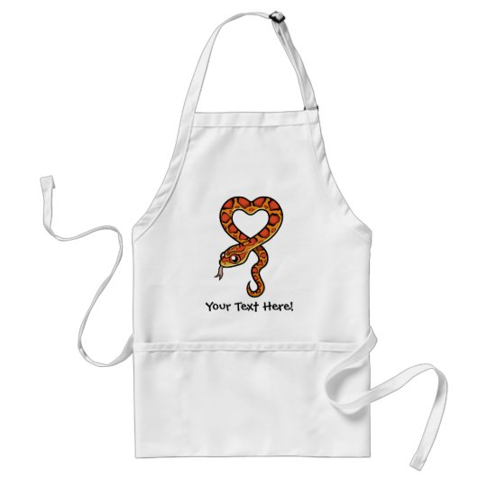 Cartoon Snake Adult Apron