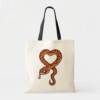 Cartoon Snake Tote Bags