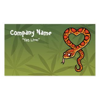 Cartoon Snake Business Card Templates