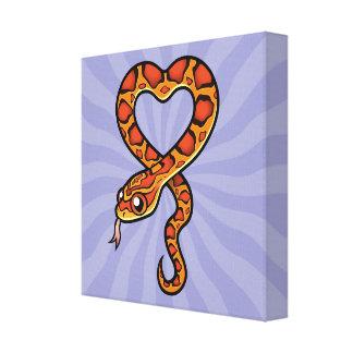 Cartoon Snake Canvas Print