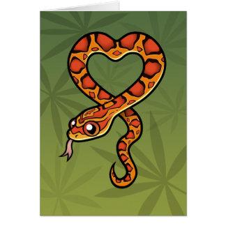Cartoon Snake Card