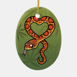 Cartoon Snake Christmas Ornaments Zazzle 100 Satisfaction Guaranteed