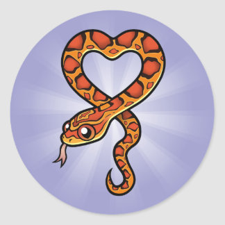 Cartoon Snake Classic Round Sticker