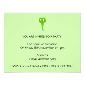 Cartoon Snake Invitation