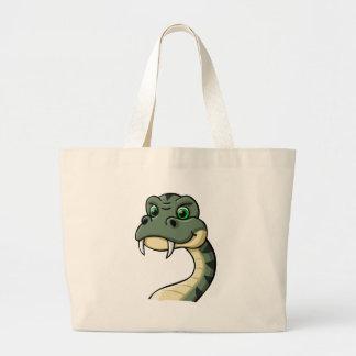 Cartoon Snake Large Tote Bag