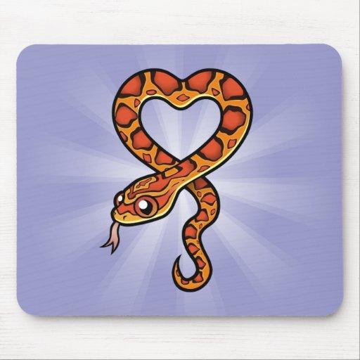 Cartoon Snake Mouse Pad
