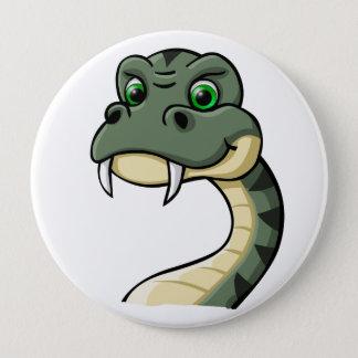 Cartoon Snake Pinback Button