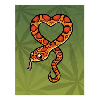 Cartoon Snake Postcard