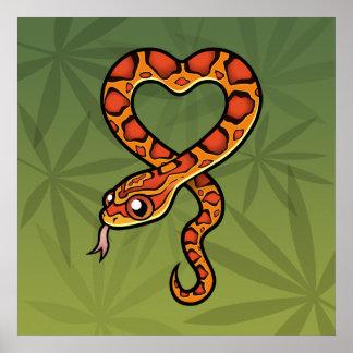 Cartoon Snake Poster
