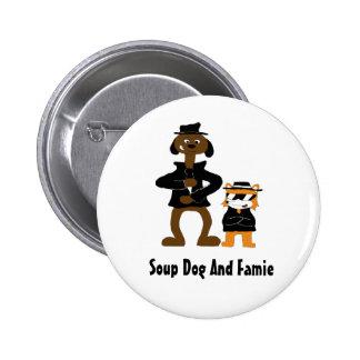 Cartoon Snoop Dogg And Jamie Fox Fans 2 Inch Round Button