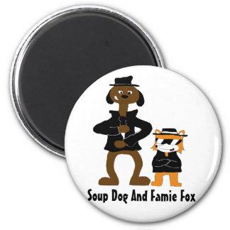 Cartoon Snoop Dogg And Jamie Fox Fans 2 Inch Round Magnet