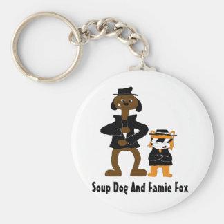 Cartoon Snoop Dogg And Jamie Fox Fans Basic Round Button Keychain