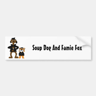 Cartoon Snoop Dogg And Jamie Fox Fans Bumper Sticker