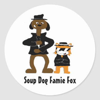 Cartoon Snoop Dogg And Jamie Fox Fans Classic Round Sticker