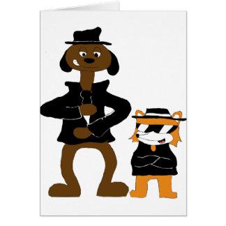 Cartoon Snoop Dogg And Jamie Fox Fans Greeting Card