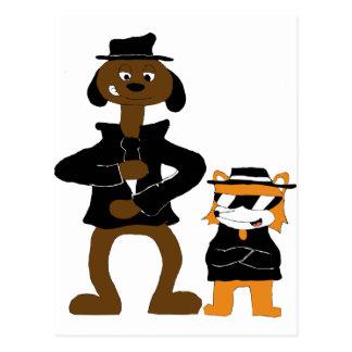 Cartoon Snoop Dogg And Jamie Fox Fans Postcard