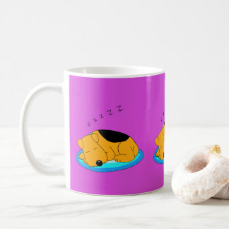 Cartoon Snoring Airedale Terrier Dog Mug
