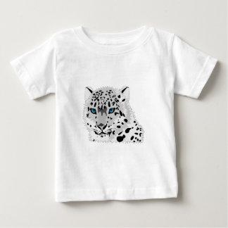 Cartoon Snow Leopard Face Baby T-Shirt