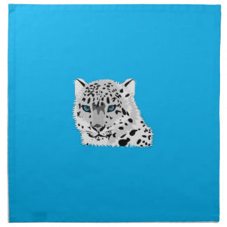 Cartoon Snow Leopard Face Printed Napkins