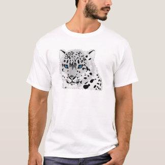 Cartoon Snow Leopard Face T-Shirt