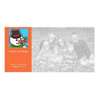 Cartoon Snowman 2 Holiday Card