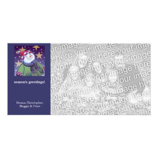 Cartoon Snowman Holiday Card