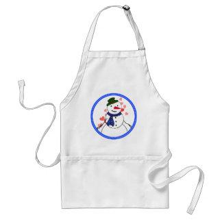 Cartoon Snowman Little Flirty Boy Aprons