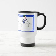 Cartoon Snowman Little Flirty Boy Coffee Mug