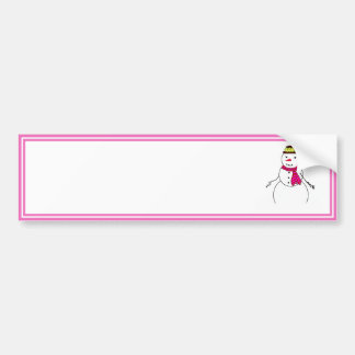 Cartoon Snowman Little Flirty Sweetheart Car Bumper Sticker